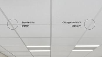 chicago metallic, matt white 11 vs standard white profiles, rockfon, SE