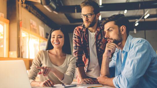 office workers, interior design, meeting people